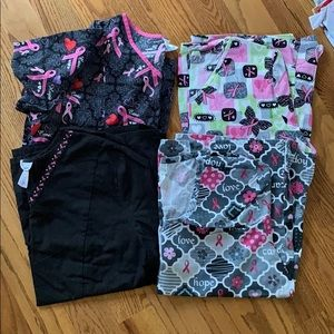 Other - Nursing scrub tops, breast cancer awareness